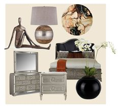 """Cozy bedroom"" by oana-grigorie on Polyvore featuring interior, interiors, interior design, home, home decor, interior decorating, Danya B and bedroom"