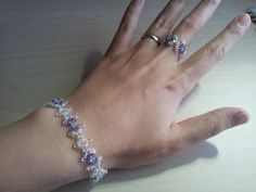 My dear friend in Japan has opened an etsy shop! Please take a look! Her work is lovely!!  Swarovski tanzanite and crystal bracelet with by NeoUniverseTaro, $51.55