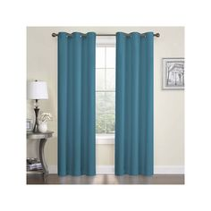 Eclipse Microfiber Thermaback Blackout Curtain Blue