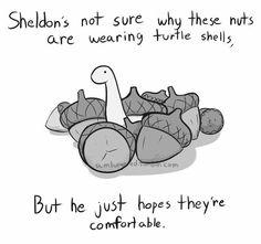 Sheldon with acorns....