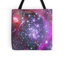 Purple Galaxy and Stars Tote Bag