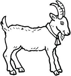 Picture Of A Goat In Farm Animal Coloring Page : Kids Play Color - Nutztiere Shape Coloring Pages, Farm Animal Coloring Pages, Easter Coloring Pages, Disney Coloring Pages, Coloring Pages For Kids, Coloring Books, Farm Animals Pictures, Baby Farm Animals, Farm Animal Quilt