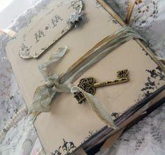 Vintage Wedding Guest Book In Shabby Chic Style By Shabbyweddingbooks