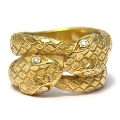 Serpent ring like Daniel Gibbings Kissing Serpents Ring $2800