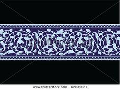 Tabas Flower Seamless Border by via Shutterstock Border Pattern, Pattern Art, Arabesque, Islamic Tiles, Islamic Art Pattern, Saree Border, Decorative Borders, Islamic Art Calligraphy, Stencil Patterns
