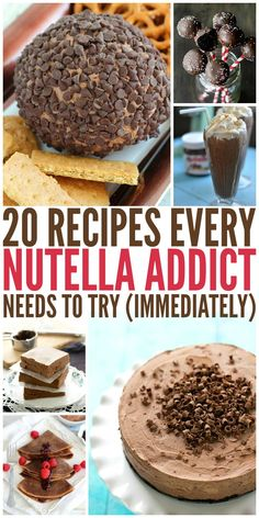 Recipes That Every Nutella Addict Will Love Nutella recipes that are going to need to be made IMMEDIATELY!Nutella recipes that are going to need to be made IMMEDIATELY! Clean Eating Vegetarian, Vegetarian Meals For Kids, High Protein Vegetarian Recipes, Köstliche Desserts, Delicious Desserts, Dessert Recipes, Yummy Food, Yummy Snacks, Hot Chocolate Gifts