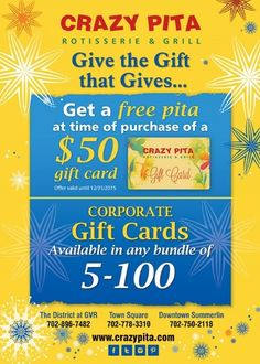 Give the gift that is always delicious! #crazypita