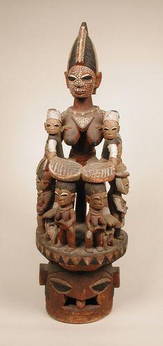 Yoruba Epa (Iyabeji) Helmet Mask, Nigeria http://www.imodara.com/item/nigeria-yoruba-epa-ancestor-mask-iyabeji-mother-of-twins/