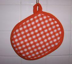 nice orange gingham