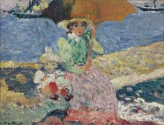 1899, Mère et Enfant sur la Plage, Louis Valtat