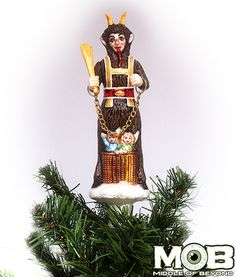 Krampus The Christmas Devil Glass Tree Topper – Middle of Beyond
