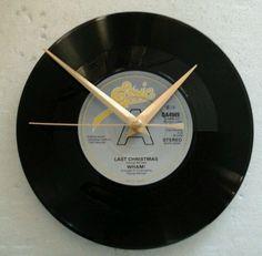Wham  clock - last Christmas   7   vinyl record clock  gift birthday xmas