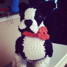 boston terrier crocheted amigurumi