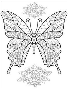pergamano - Page 7 Butterfly Coloring Page, Butterfly Drawing, Coloring Book Pages, Coloring Sheets, Printable Coloring, Colorful Pictures, Doodle Art, Altered Art, Drawings