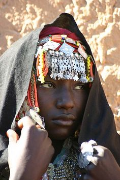Woman photographed in Libya