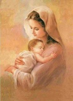 It is Mary Mother of Jesus who taught us How to pray the Rosary. It was her way of bringing us closer to Jesus by meditating on the life of Jesus. Blessed Mother Mary, Divine Mother, Blessed Virgin Mary, Rosary Prayer, Praying The Rosary, Catholic Art, Religious Art, Immaculée Conception, Images Of Mary