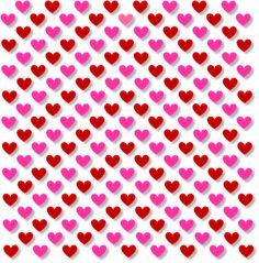 Liebe, Winzig, Herz, 3D, Diagonal, Muster, Rosa