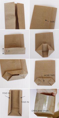 turn flat bag into flat-bottom bag