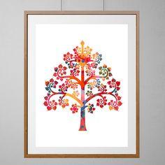 Buddha tree of Life art print Buddhist Symbol by MimiPrints