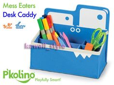 P'kolino Mess Eaters DESK CADDY Blue Monster * Pkolino Playful Organization NEW! in Bedroom, Playroom & Dorm Decor | eBay