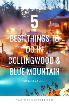 The 5 Best Things to do in Collingwood & Blue Mountain, Ontario. Our short list of bars, restaurants and more for your visit in the fall, winter, summer and spring. CLICK THE PIN TO SEE THE FULL LIST! Aged Whiskey, Stuff To Do, Things To Do, Finnish Sauna, Ontario Travel, Getting A Massage, Recreational Activities, In Season Produce, Romantic Getaway
