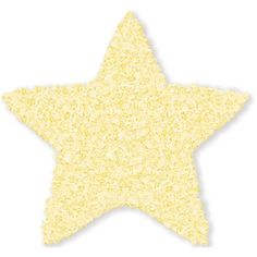 The Rug Market Shaggy Raggy Star Yellow Size 3' x 3' Star Area Rug