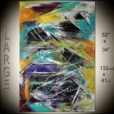 GRANDE peinture Original Art Orange abstrait ART abstrait à vendre oeuvre moderne toile art