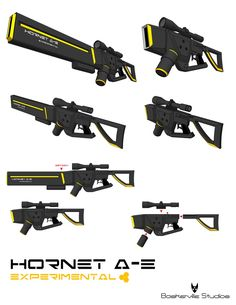 Hornet A-E Experimental Weapon by kid-cody.deviantart.com on @DeviantArt