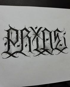 Graffiti Lettering Alphabet, Chicano Lettering, Tattoo Script, Tattoo Fonts, Lettering Tattoo, Letras Tattoo, Chicano Art Tattoos, Fancy Writing, Calligraphy Artist