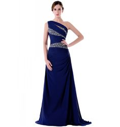 >> Click to Buy << One Shoulder Floor Length Long Evening Dress 2017 New Arrival Formal Dresses Teal Bue Purple Pink Custom Made A Line Long #Affiliate