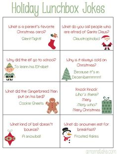 Image of: Christmas Elf Free Printable Holiday Lunchbox Jokes For Kids Plus Cute Christmas Bento Idea Christmas Jokes Timykids 13 Best Christmas Jokes For Kids Images Christmas Crafts