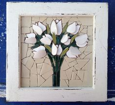 """""""Winter Whites"""" before grouting by Nikki Inc Mosaics"""