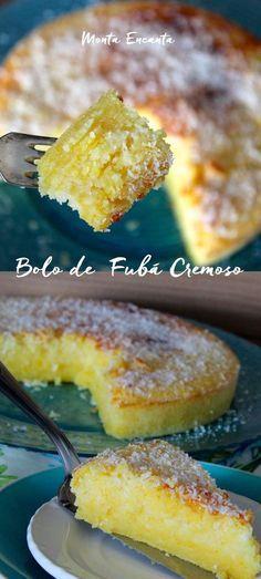 Bolo de Fubá Cremoso, Sem dúvida nenhuma, de todas as receitas de bolo de fubá, esta é a minha preferida...