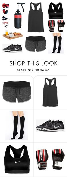 """MUAY THAI ON WEDNESDAY"" by stylev ❤ liked on Polyvore featuring Hurley, Bodyism, ASOS, NIKE, women's clothing, women's fashion, women, female, woman and misses"