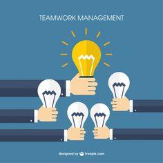 Teamwork Management Free Vector