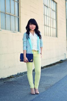 Near two-thirds (63%) of women who described their personal style as classic, also continued to describe themselves as trendy and stylish. #tjmaxx #maxxexpression colored skinnies