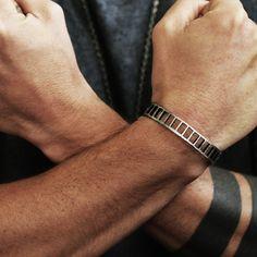 Carpe Diem Mens Silver Cuff Bracelets
