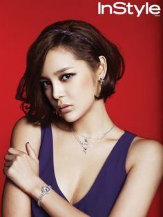 Picture of Si-hyeon Park World Most Beautiful Woman, Stunningly Beautiful, Korean Actresses, Actors & Actresses, Short Curly Hair, Short Hair Styles, Park Si Yeon, Elle Marie, Kim Tae Hee