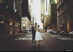 new York city Wedding | film hipster vintage new york city streets kiss wedding. Oh my gosh i want this!!!!!