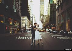 new York city Wedding | film hipster vintage new york city streets kiss wedding. Oh my gosh i want this!!!!!
