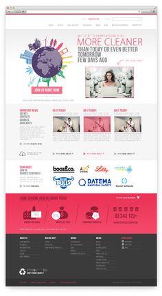 2 PSD Web Templates for Companies by VITALI ZAKHAROFF, via Behance
