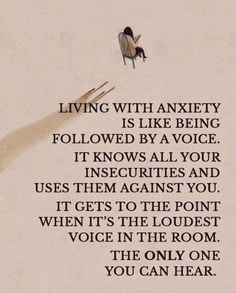 When it is caused by something you can't control. It is truly crippling ... just being brave enough to save the house