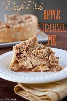 Deep Dish Apple Streusel Pie