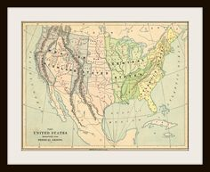 1885 UNITED STATES Antique Map by KnickofTime