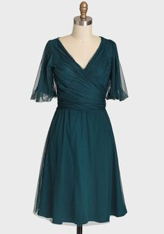 Champagne Indie Party Dress By Effie's Heart In Teal | Modern Vintage Dresses