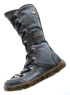 Leder Stiefel TMA Damen Winter Schuhe gefüttert Schwarz Kniehohe Damenstiefel used look Gr. 38 - http://on-line-kaufen.de/tma/38-eu-leder-stiefel-tma-damen-winter-schuhe-weiss-3