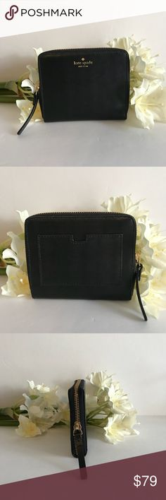 Kate Spade wallet ♠️ 🎀 Kate Spade wallet. NWT's ♠️🎀 Style is Darci. Color is black  Height 4.5 inches,  Width 5 inches  Deep 1 inch  🔒PRICE IS FIRM kate spade Bags Wallets