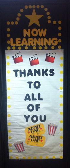 Therapist Appreciation Week aka Teacher Appreciation Week... Classroom Door Decoration... Hollywood Theme