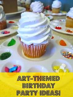 Adi's art party idea all stemmed from wanting to decorate her own cakes. This idea is perfect.