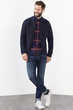 Esprit / Vest met knopen van warme wolmix